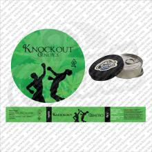 Novelty Four Cups Cali Labels / Stickers with 3.5g Tins