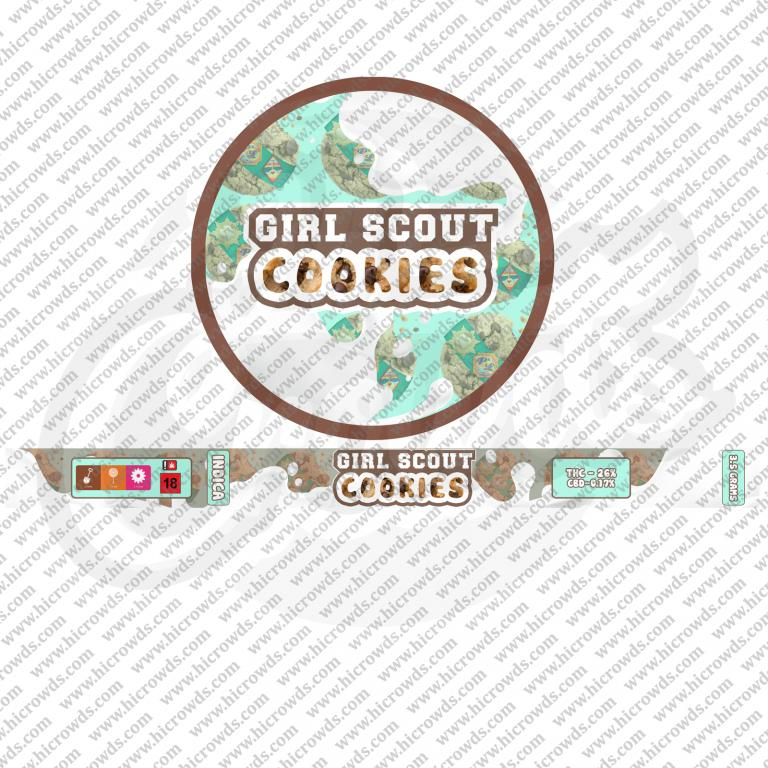 Girl Scout Cookies Cali cannabis strain novelty tin design