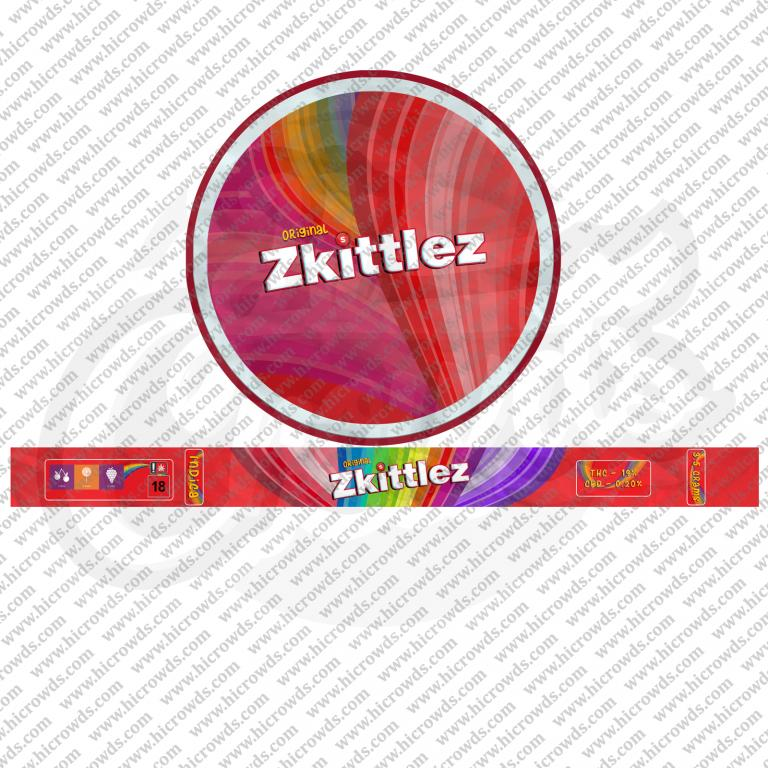Zkittlez Cali cannabis strain novelty tin design